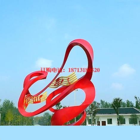校園抽象音符雕塑 學校不銹鋼雕塑制作廠家