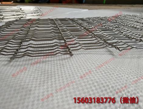 輸送餅干用不銹鋼乙字型輸送帶做裝飾用
