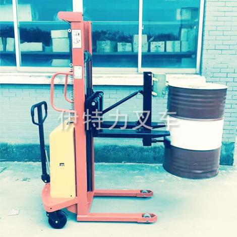 半电动油桶升高车