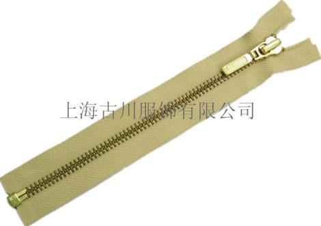 杭州上城YKK金铜开口门襟拉链