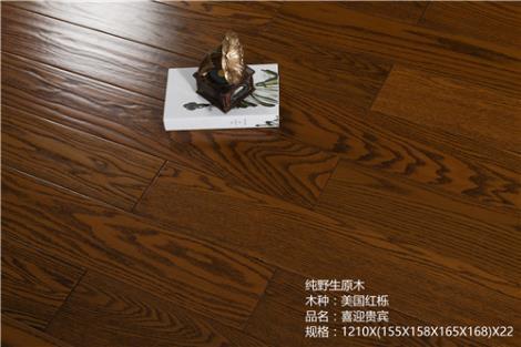 仿古红栎实木地板