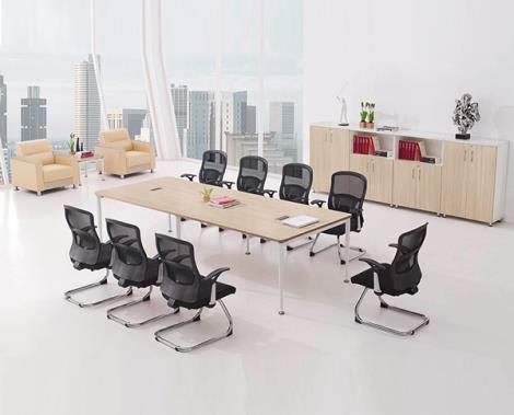 簡約現代大型板式會議桌