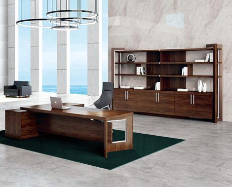 新款实木CEO总裁办公桌