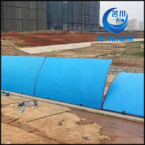 液壓活動壩使用壽命長 替代了橡膠壩