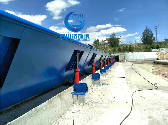 液压升降坝坚固可靠,使用寿命长 止水好