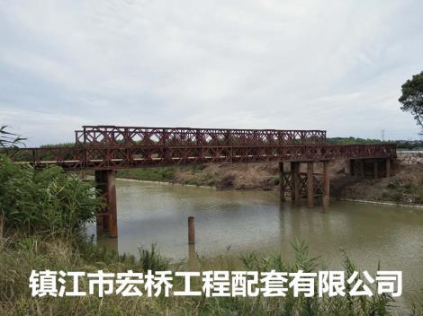 中铁二十五局溧高高速LY2标钢便桥