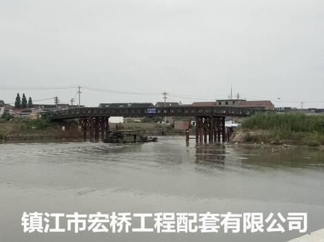 广亚集团常州新沟河拓浚工程钢便桥