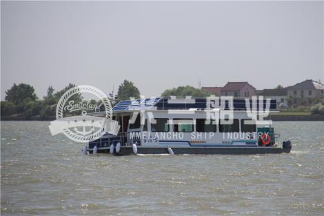 铝合金浮筒房船图片