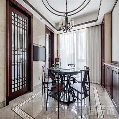 183m²新中式住宅餐厅