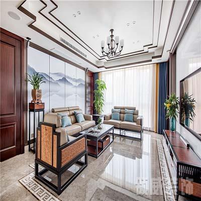 183m²新中式住宅客厅