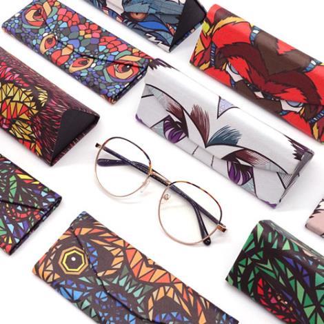 动物折叠眼镜盒加工