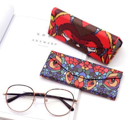 印花三角眼镜盒直销