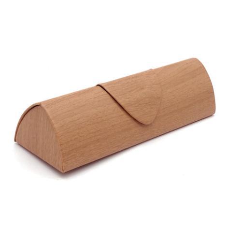 木纹三角眼镜盒