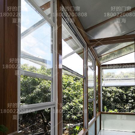 电动铝合金折叠窗