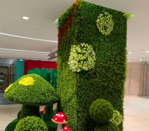 仿真植物墻設計