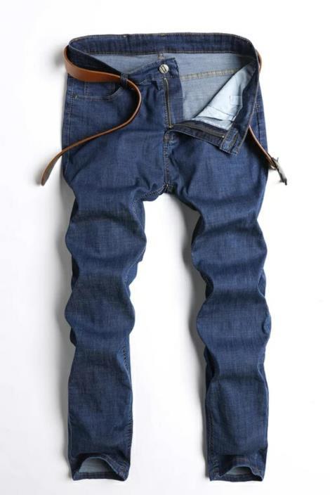 男士商务牛仔裤
