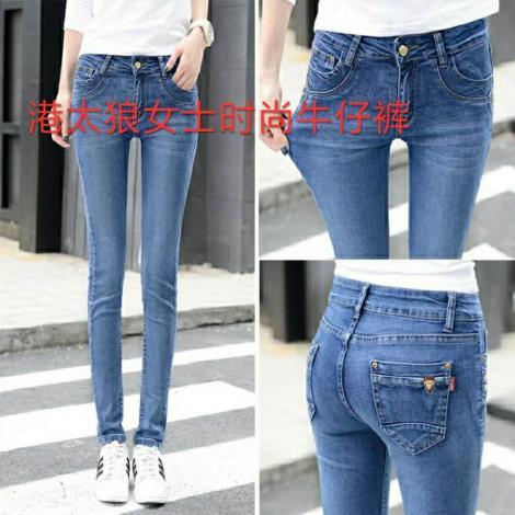 女士时尚牛仔裤生产