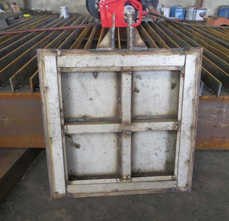 铸造型翻板闸门
