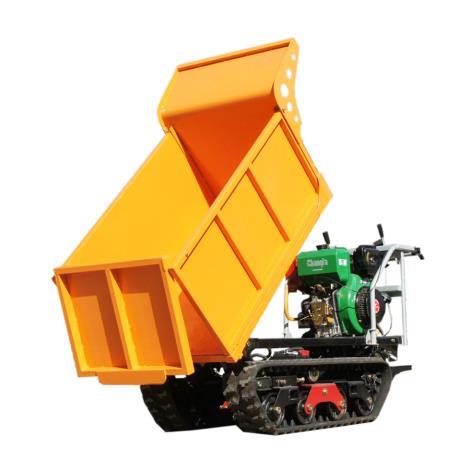 小型履帶農用全地形液壓翻斗自卸運輸車