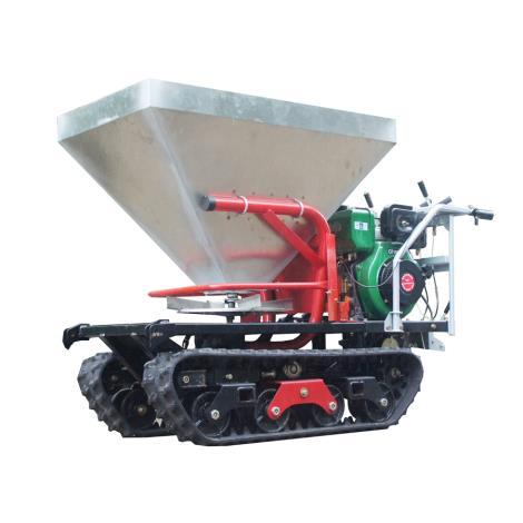 履帶履帶自走式大棚液壓馬達驅動顆粒撒肥機