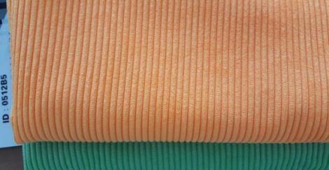 6WTC灯芯绒提花条子色织灯芯绒布料厂家
