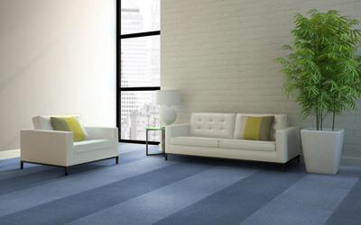 圈绒簇绒方块拼接地毯