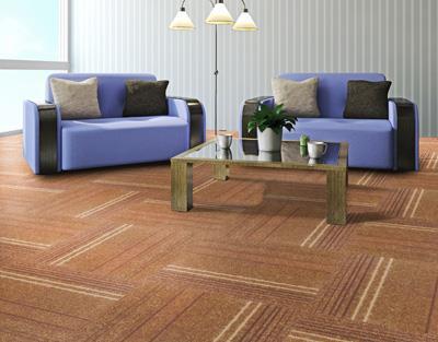 缤纷印花方块拼接地毯直销