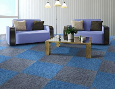 缤纷印花方块拼接地毯加工