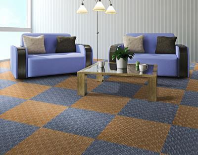 缤纷印花方块拼接地毯供货商