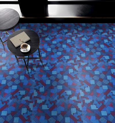 幻彩印花方块拼接地毯生产商