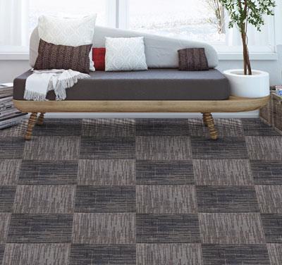 诗语印花方块拼接地毯
