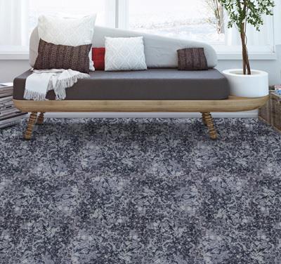 幽梦印花方块拼接地毯