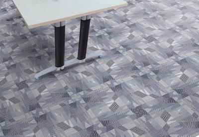 幽梦印花方块拼接地毯定制