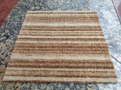 绽放印花方块拼接地毯