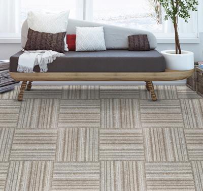 绽放印花方块拼接地毯直销