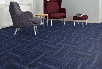 绽放印花方块拼接地毯加工