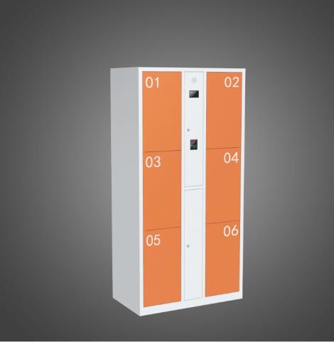 电子存包六门柜
