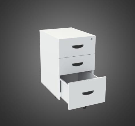 三抽活动柜