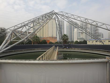 污水处理厂管桁架膜结构