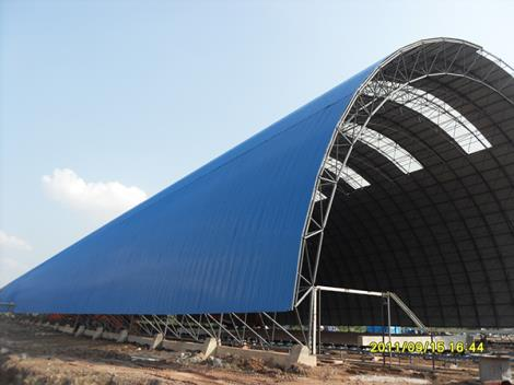 熟料干法水泥生产线钢网架制安工程