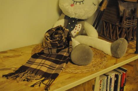 保暖仿羊绒围巾