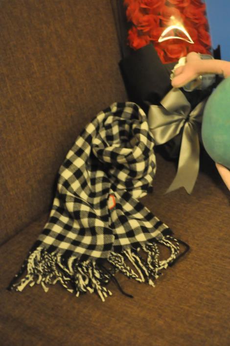 双面格子围巾价格