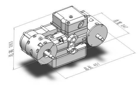 對置式四行程1:1模型圖