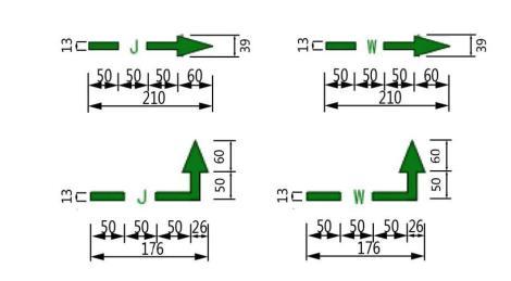 给水排水类管线标识样式及尺寸示例