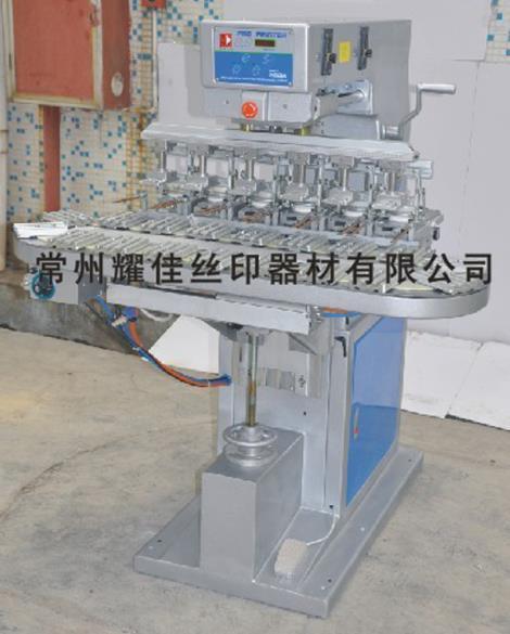 M6 C六色运输带移印机加工