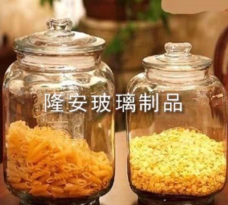 透明玻璃储物罐