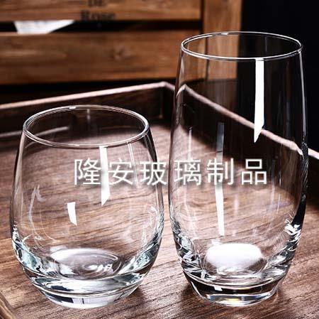 椭圆玻璃水杯
