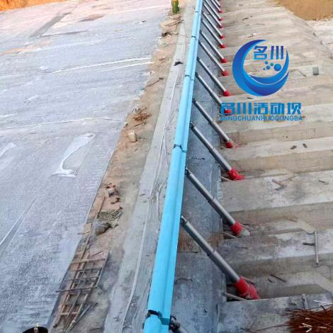 名川液压活动升降坝  合页坝 泄洪能力强 无中墩设计 替代橡胶坝翻板坝