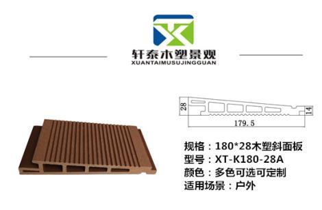 木塑斜面板