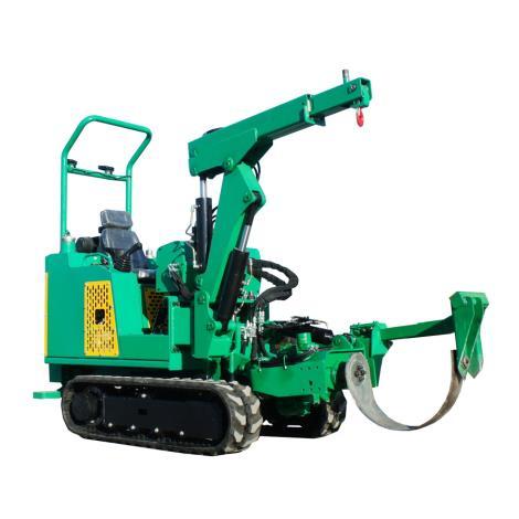 乘站式柴油履帶圓弧刀式挖樹機 履帶移樹機 履帶圓弧移栽機